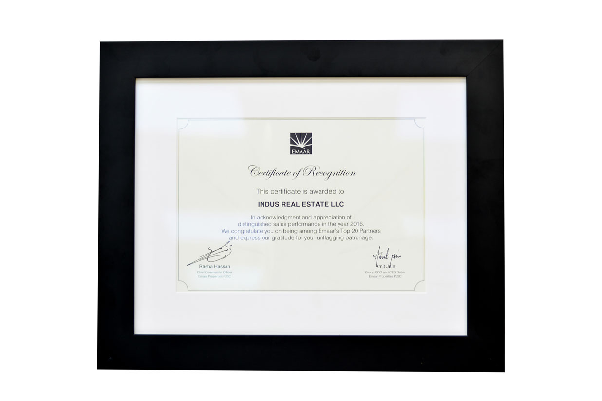 Certificate of Image