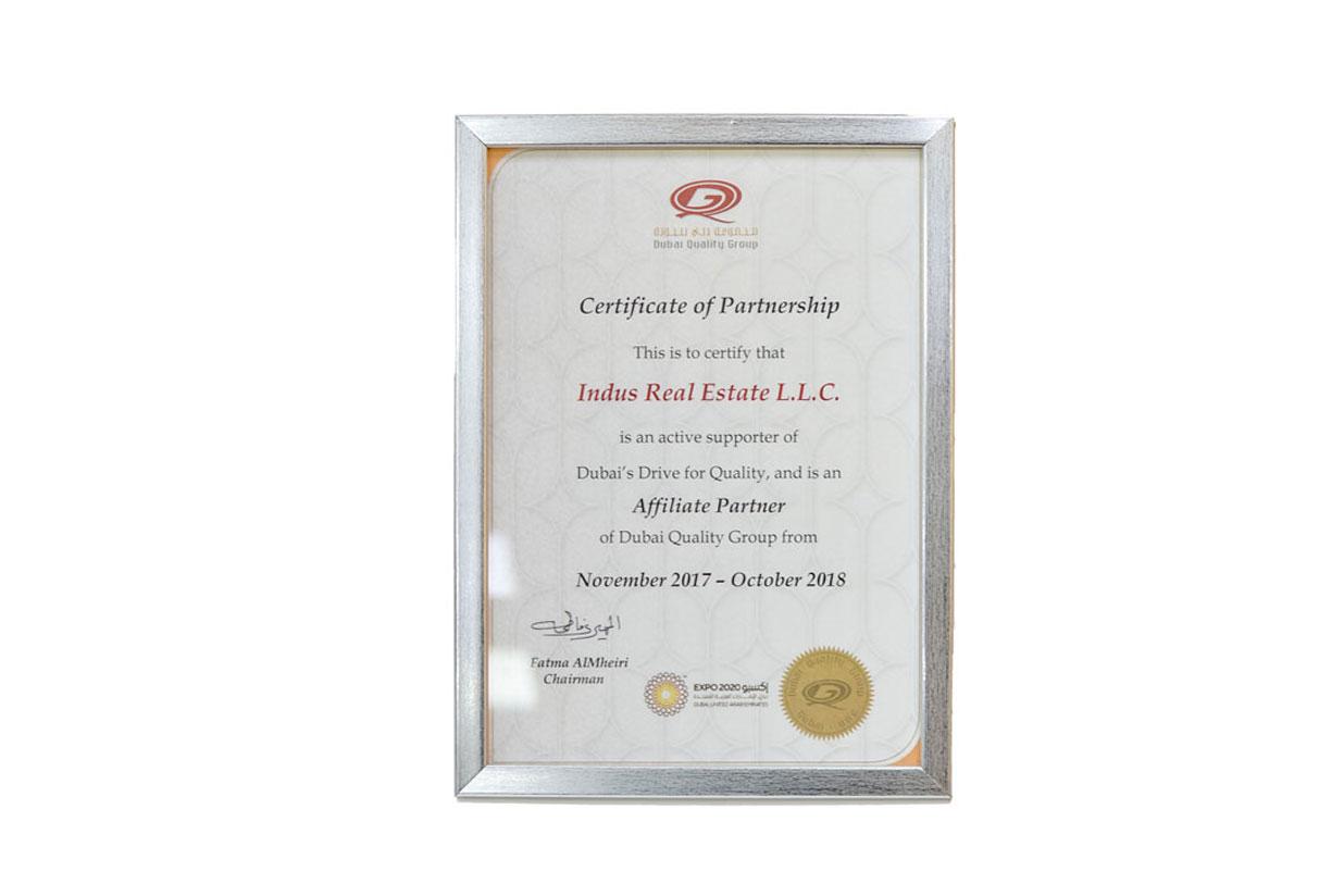 Partnership Certificate Image